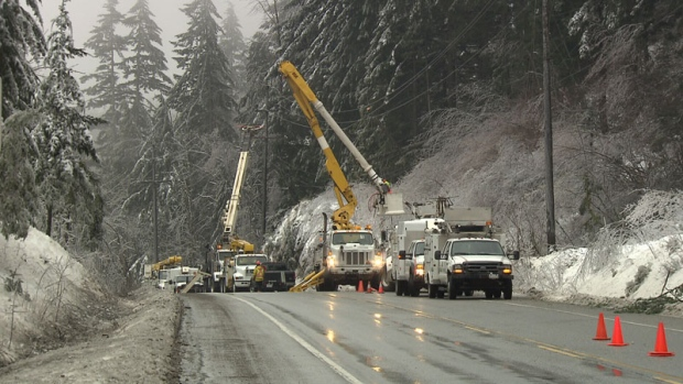 Thousands In The Dark After Fraser Valley Power Outages