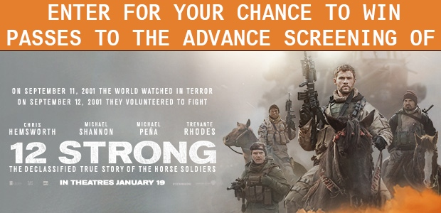 12 Strong Movie Passes Banner