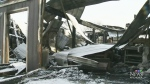 Farm shed destroyed by fire