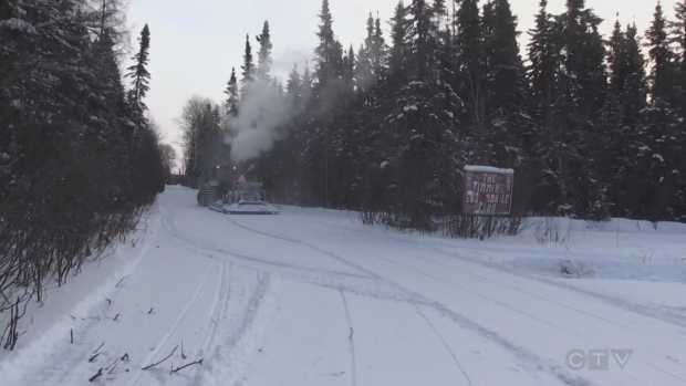 In Timmins the snowmobile trails are open.