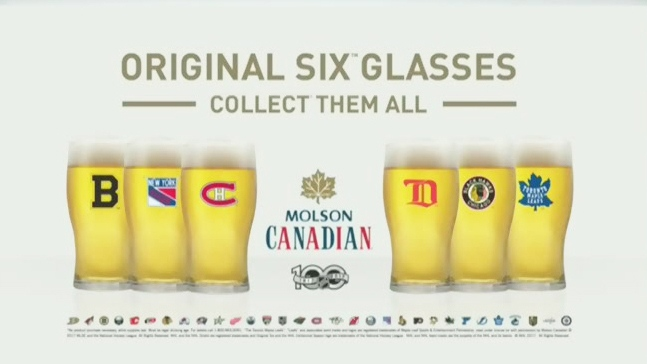 CTV News Channel: Molson NHL beer glasses recalled
