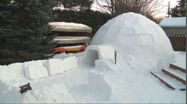 Igloo in Ottawa