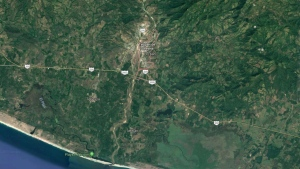 A stretch of highway near the municipality of Tecpan de Galeana in southern Mexico is seen here. (Source: Google Maps)