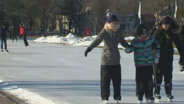 At the Emera Oval in Halifax people laced up their skates for public skating to celebrate the coming of 2018.
