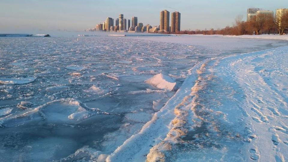 The Toronto Polar Bear Club, which invites participants to take an icy plunge into Lake Ontario, was cancelled amid the freezing temperatures. It's the first time in 13 years the event was cancelled. (Source: Toronto Polar Bear Club, Facebook)