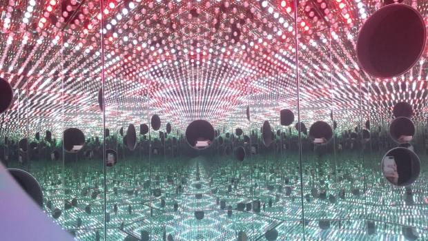 Infinity Mirror Room by artist Yayoi Kusama