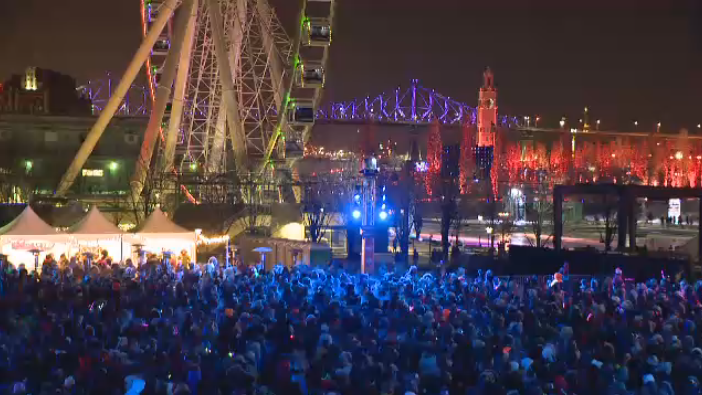 Montrealers poured out by the thousands to close of a year of vibrant festivities for the city's 375th anniversary. (CTV Montreal)