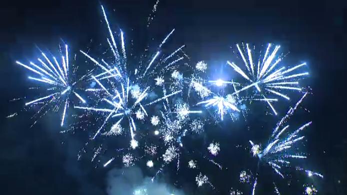 fireworks new year's waterloo 2018