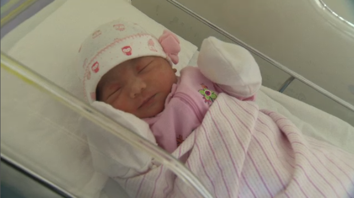 Maxine Kylie was born just seconds after midnight, and as an added bonus, her mother's birthday is New Year's Eve. (CTV Montreal)