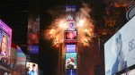 The ball drops during the New Year's Eve celebration in Times Square on Sunday, Dec. 31, 2017, in New York. (Photo by Brent N. Clarke/Invision/AP)
