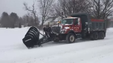 snow plow in Moncton