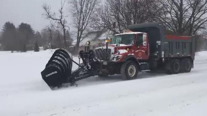 snow plow in Moncton