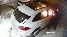 Porsche set on fire