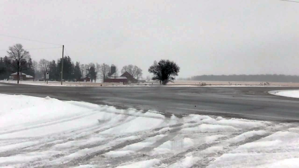 A three-vehicle collision closed Highway 6 north of Guelph on Tuesday, Jan. 2, 2018.