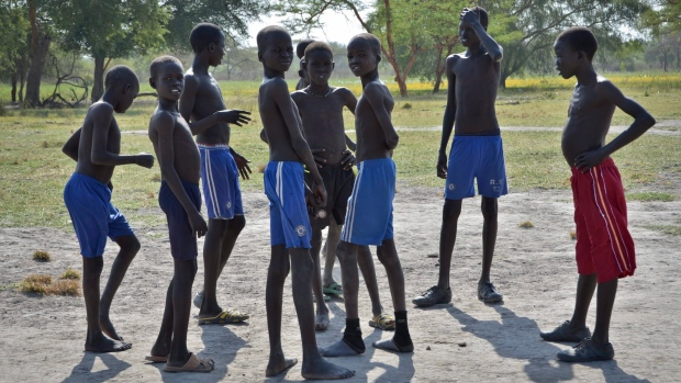 Boys in Ayod County, South Sudan