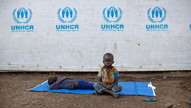 A South Sudanese refugee boy in Uganda