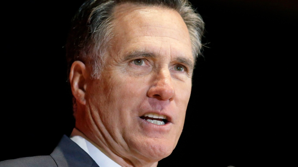 In this March 3, 2016, file photo, former Massachusetts governor and presidential candidate Mitt Romney speaks at the University of Utah in Salt Lake City. (AP Photo / Rick Bowmer, File)