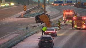 Deadly crash on Toronto highway
