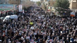 Demonstrators, mostly clerics, attend a pro-government rally in the holy city of Qom south of the capital Tehran, Iran, Wednesday, Jan. 3, 2018. (Mohammad Ali Marizad/Tasnim News Agency)