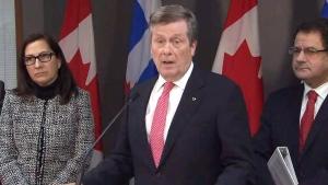 Toronto Mayor John Tory on homelessness plan