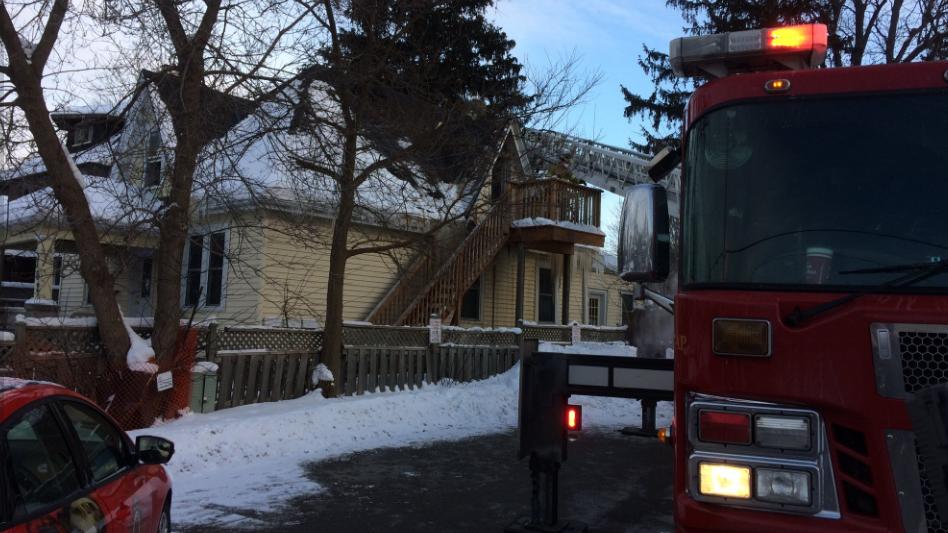 Fire at 762 Colborne St. in London Ont. on Jan. 3, 2018. (Sean Irvine/CTV)