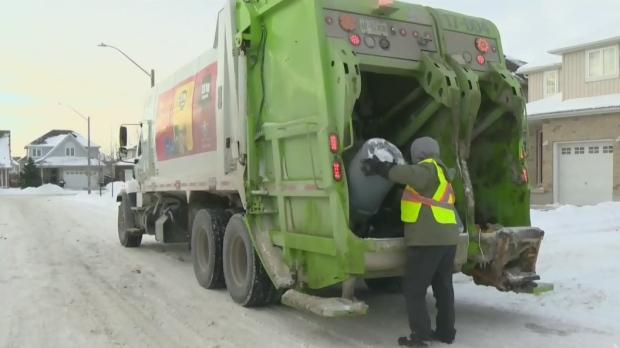 From CTV Kitchener's Heather Senoran: Garbage and