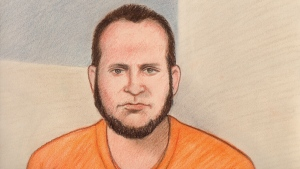 Joshua Boyle appears in an Ottawa court via video conference, Wednesday, Jan. 3, 2018.