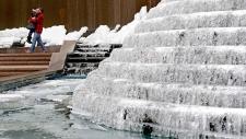Frozen fountain in Atlanta