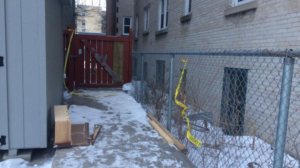 Family tells CTV News Sinclair was found in the 300 block of Furby Street. (Beth Macdonell/CTV Winnipeg)