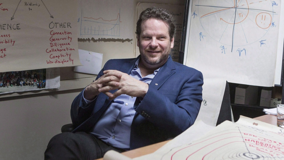 Director Albert Schultz is pictured in his office in Toronto's Young Centre for the Performing Arts on Monday, March 20, 2017. THE CANADIAN PRESS/Chris Young