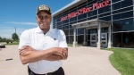 Willie O'Ree, known best for being the first black player in the National Hockey League, is shown at Willie O'Ree Place in Fredericton, N.B., on Thursday, June 22, 2017. (THE CANADIAN PRESS/Stephen MacGillivray)