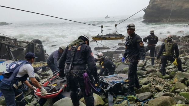 Deadly bus crash in Peru