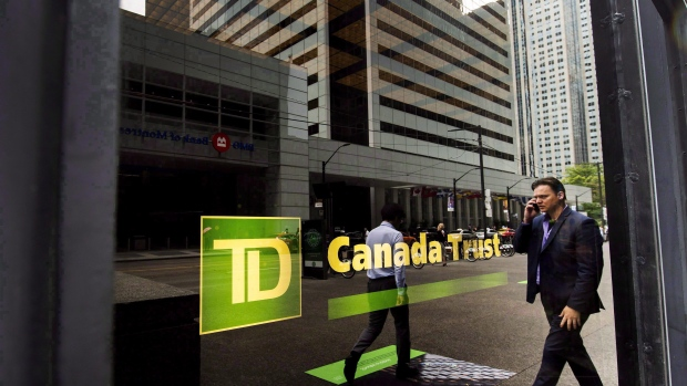 A TD Canada Trust branch is shown in the financial district in Toronto on Tuesday, August 22, 2017. (THE CANADIAN PRESS/Nathan Denette)