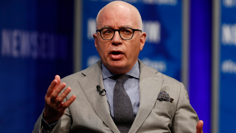 FILE - In this April 12, 2017, file photo, Michael Wolff of The Hollywood Reporter speaks at the Newseum in Washington. (AP Photo/Carolyn Kaster)