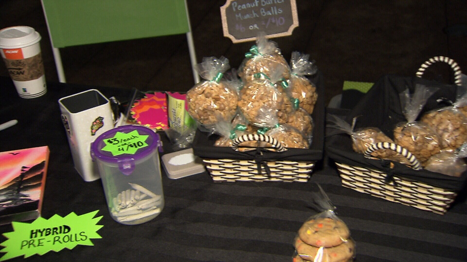 Illegal pot vendors sell joints, buds, and all kinds of baked goods from home kitchens on Robson Square.