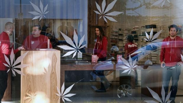 At a medical marijuana dispensary in Los Angeles