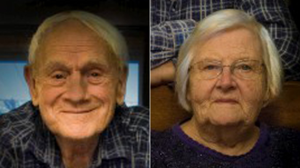 Grant and Ada Triebner are seen in this composite image. (source: Haskett Funeral Homes)