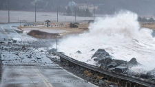 storm surge in Lawrencetown