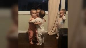 CTV Edmonton: Quadruplets go viral for hugging