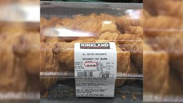 Costco croissants plastic kirkland signature