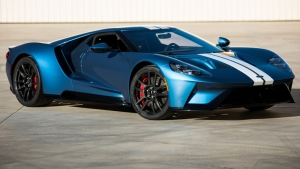 The Ford GT is shown. (Barrett-Jackson / AFP)