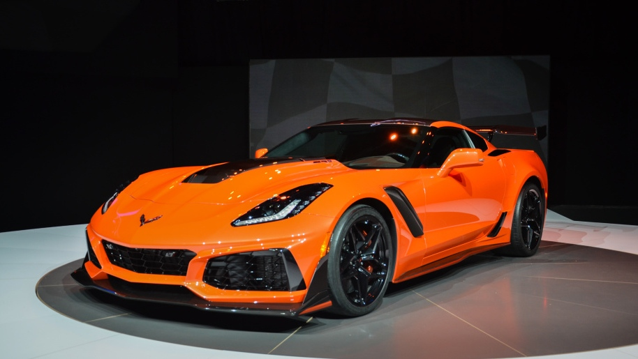 Chevrolet's Corvette ZR1 is shown. (Barrett-Jackson / AFP)