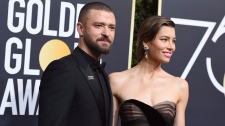 Justin Timberlake and Jessica Biel at Golden Globe