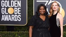 Octavia Spencer & Jessica Chastain Golden Globes