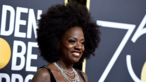Viola Davis arrives at the 75th annual GoldenGlobe Awards at the Beverly Hilton Hotel on Sunday, Jan. 7, 2018, in Beverly Hills, Calif. (Photo by Jordan Strauss/Invision/AP)