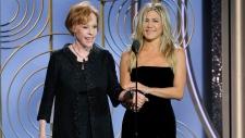 Carol Burnett & Jennifer Aniston at Golden Globes