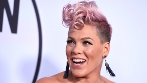 In this Nov. 19, 2017, file photo, Pink arrives at the American Music Awards at the Microsoft Theater in Los Angeles. (Photo by Jordan Strauss/Invision/AP, File)