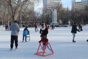 Skating in Regina