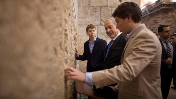 Israeli TV airs audio of Netanyahu's son bragging outside