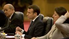 Emmanuel Macron meets with Xi Jinping